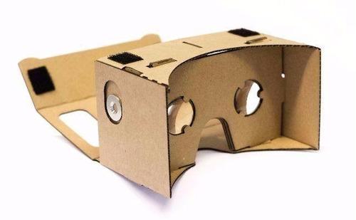 oculos realidade virtual google cardboard kit montado