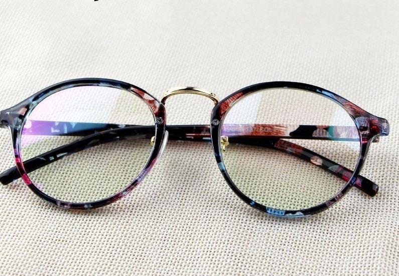 Oculos Receituário Armação Para Grau Estampado Retro Fashion - R  49 ... f61897e3a9