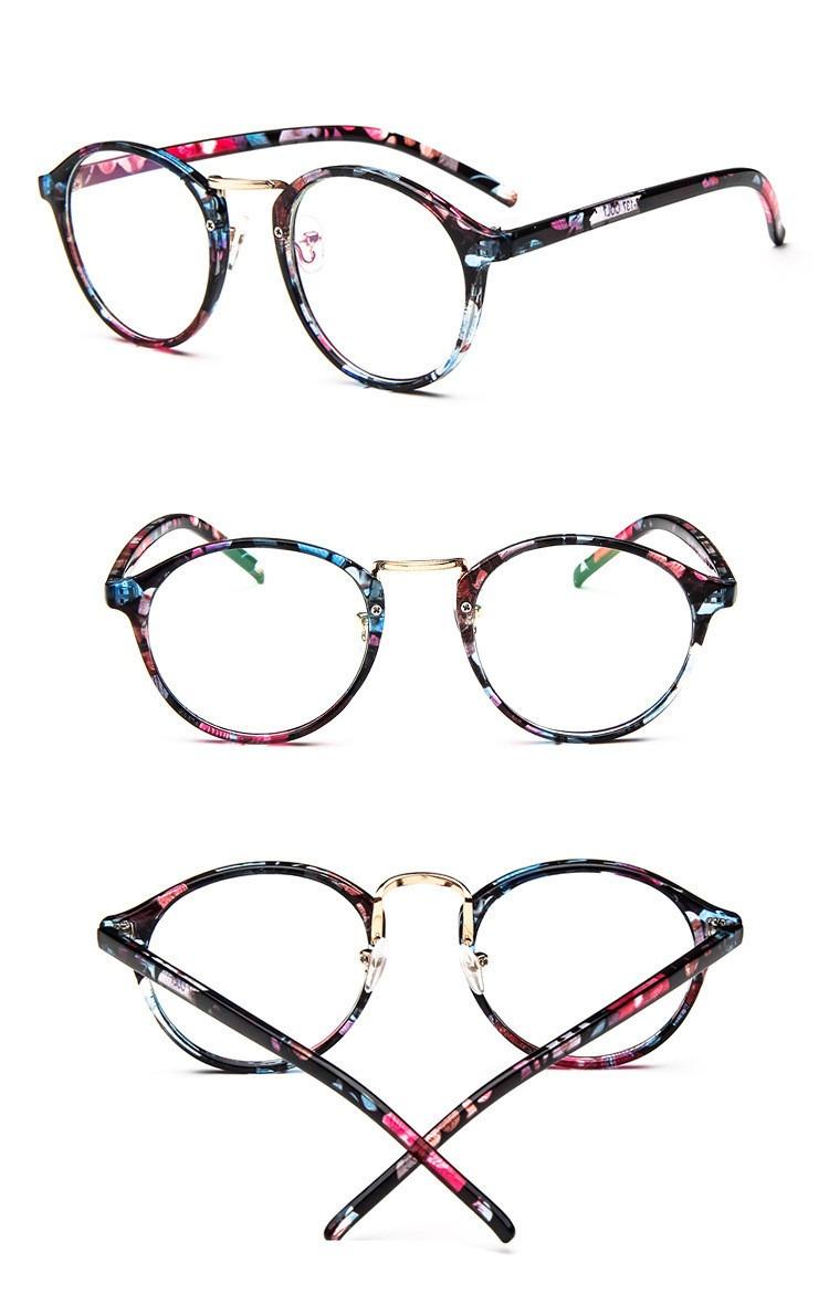 oculos receituário armação para grau estampado retro fashion. Carregando  zoom. 8bf988ca2f