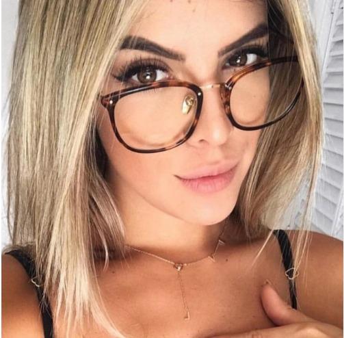 b74c0cb8e Óculos Receituário Feminino Armação Gatinho Gato Promoção - R$ 79,99 ...