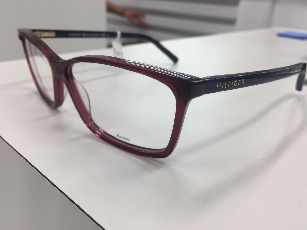 62df9b483 oculos receituario p/ grau tommy hilfiger th 1123 g32 140. Carregando zoom.