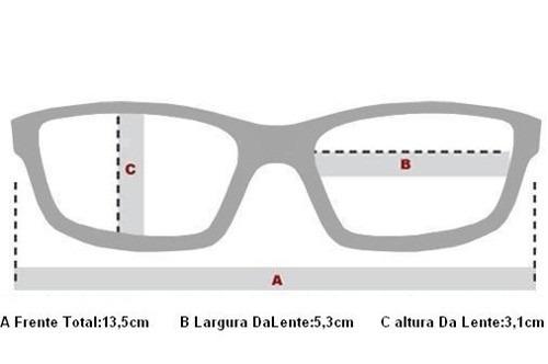 a50bbc64302 Oculos Receituario P grau Oakley Ox3136 0253 Polished Black - R  349 ...