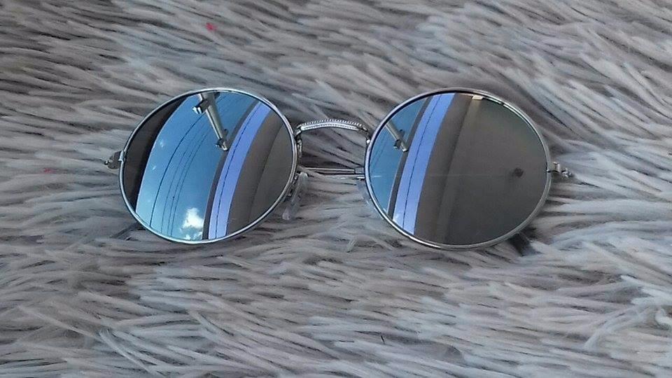 2b159adf0 óculos redondo de sol infantil espelhado moda promoção. Carregando zoom.