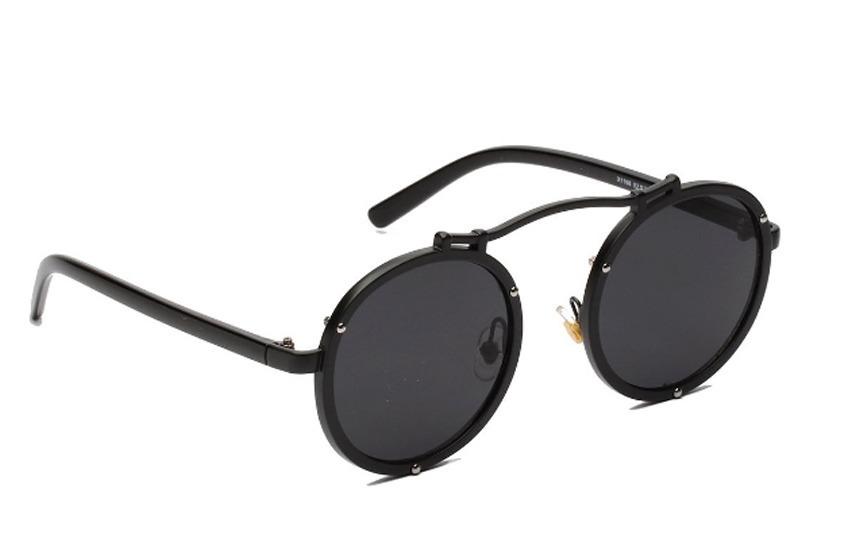 edde5785bdb66 óculos redondo de sol retro aço steampunk vintage prot uv400. Carregando  zoom.