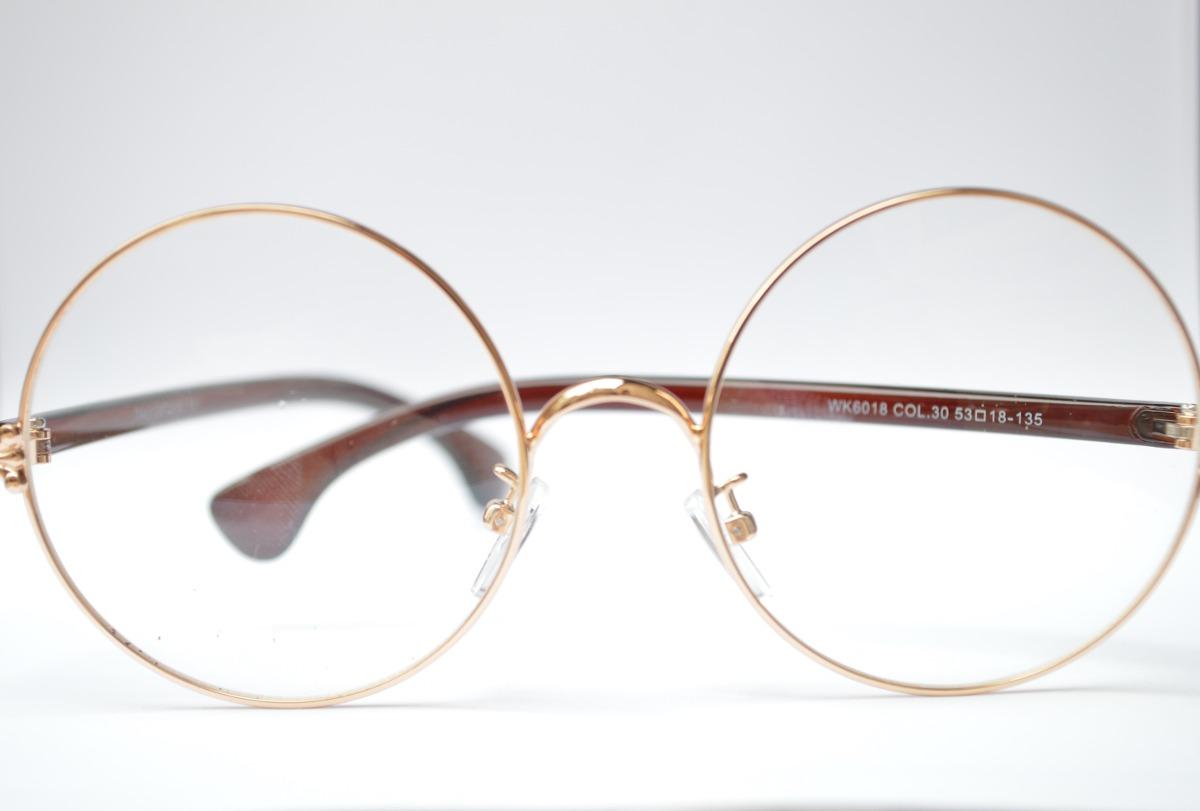 2d6b4c0e15157 oculos redondo detalhado estiloso feminino masculino p grau. Carregando  zoom.