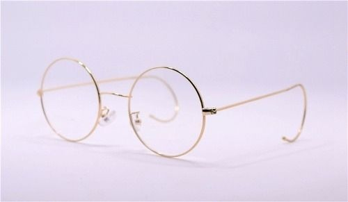 f3d4280b1 Óculos Redondo Dourado Metal Retrô 727 Gancho Na Orelha - R$ 189,90 em  Mercado Livre