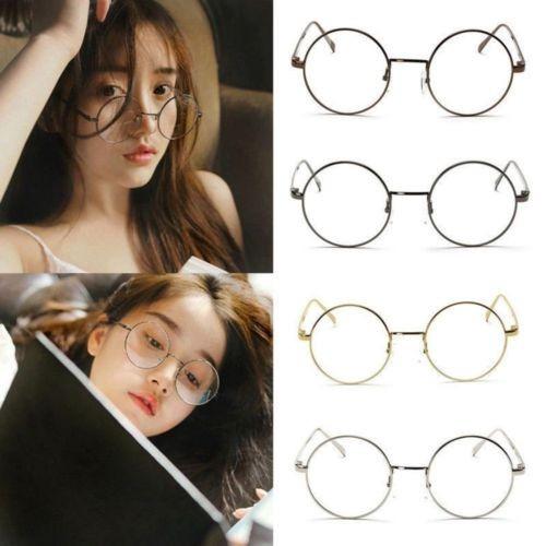 Oculos Redondo Geek Nerd Sem Grau Em Aro Prata - R  33,90 em Mercado ... d2861812b2