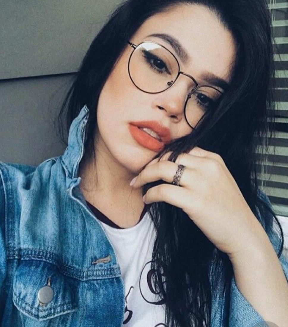 óculos redondo grande sem grau lente transparente clara moda. Carregando  zoom. 410061d15b