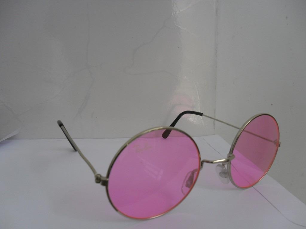 25e676cf933dd óculos redondo john lennon 49 mm de diâmetro lentes rosa. Carregando zoom.