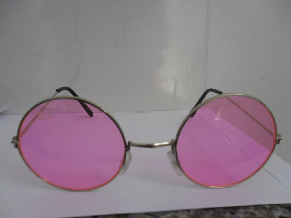 e2705fa262e7c Óculos Redondo John Lennon 49 Mm De Diâmetro Lentes Rosa - R  28