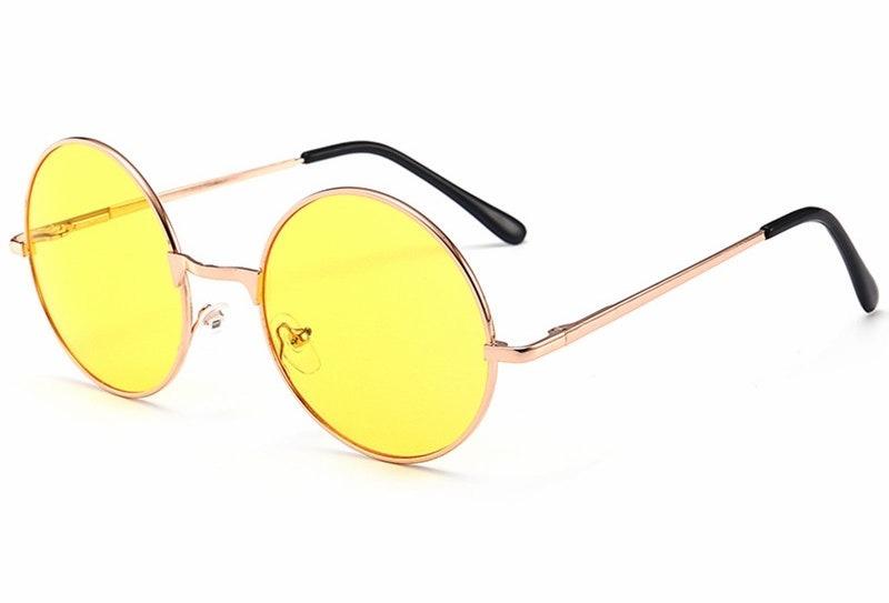 ca629f1e29715 Óculos Redondo John Lennon Lente Amarela Para Dirigir À - R  44