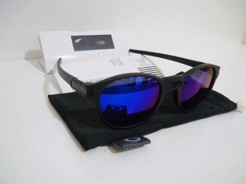 12cc2b74e5377 Óculos Redondo Latch Azul Espelhado - R  89
