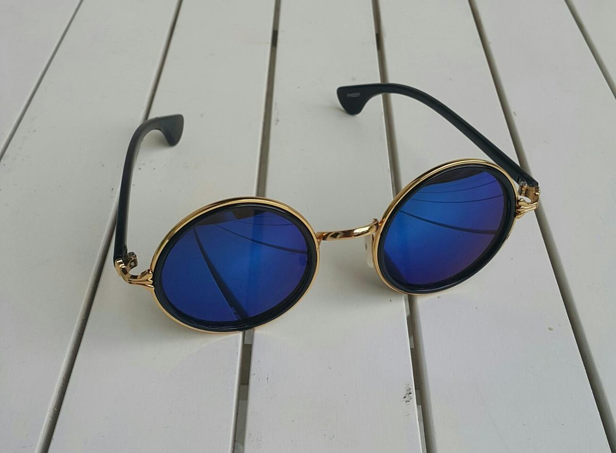 Óculos Redondo Lente Azul Espelhada - R  50,00 em Mercado Livre 45d43f2649