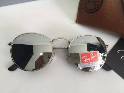 Oculos Redondo Lente Prata Espelhada Masculino R   B Reto - R  49,00 ... 6f0dcb835e