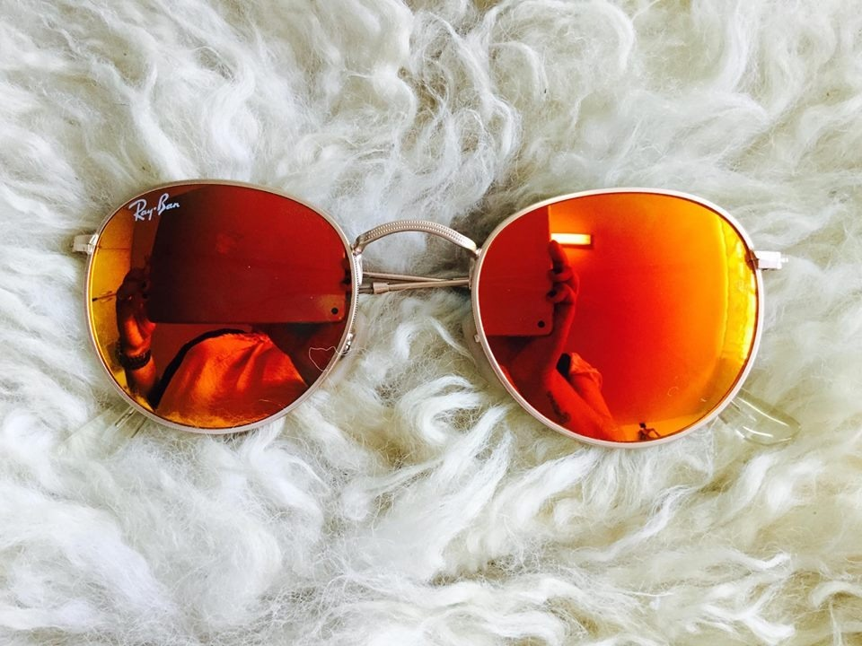 oculos redondo lente vermelha espelhada masculino r   b reto. Carregando  zoom. 7be68b2b93