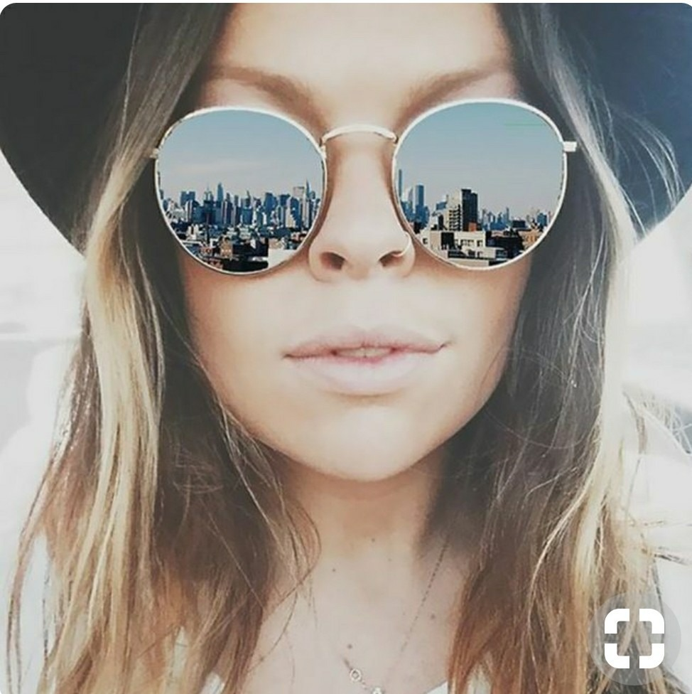 606636f9f472a Óculos Redondo Lupa Rave Espelhado Tendencia 2019 Feminino - R  39 ...