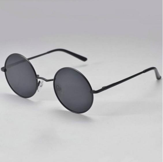 1bc97b96c05cd Óculos Redondo Ozzy Vintage Preto Retrô - R  28