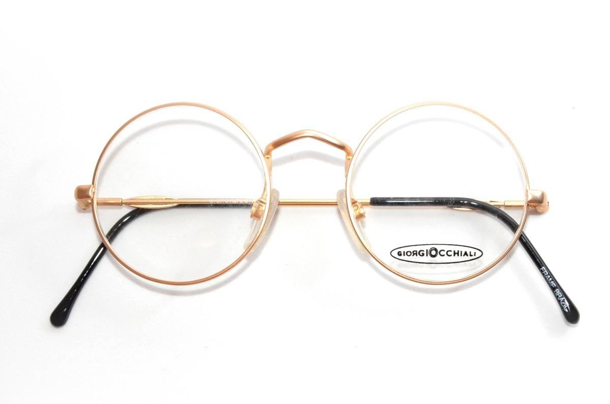 aeaa442118139 óculos redondo pequeno john lennon dourado puro inoxidavel. Carregando zoom.