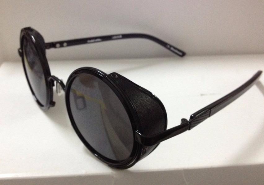 62a7cf173c230 óculos redondo preto c proteção lateral vintage estiloso b89. Carregando  zoom.