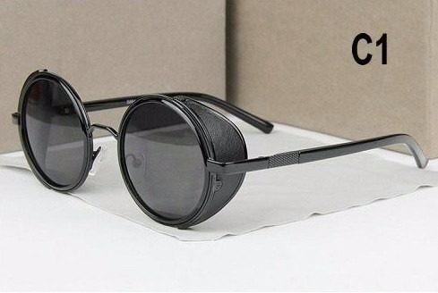 a72a9b986e080 Óculos Redondo Preto C Proteção Lateral Vintage Estiloso B89 - R ...