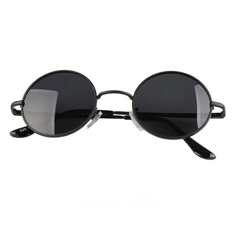 d44e2a03a2af2 Oculos Redondo Preto Feminino Masculino   Médio Proteção Uv - R  68 ...