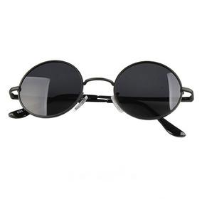 ae504c3f1 Oculos Redondo Preto Feminino Masculino / Médio Proteção Uv
