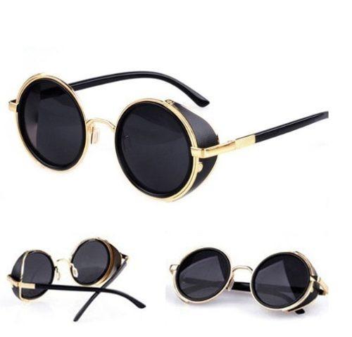 1ffab78d3cb77 Óculos Redondo Proteção Lateral Lennon Ozzy Homem De Ferro - R  69 ...
