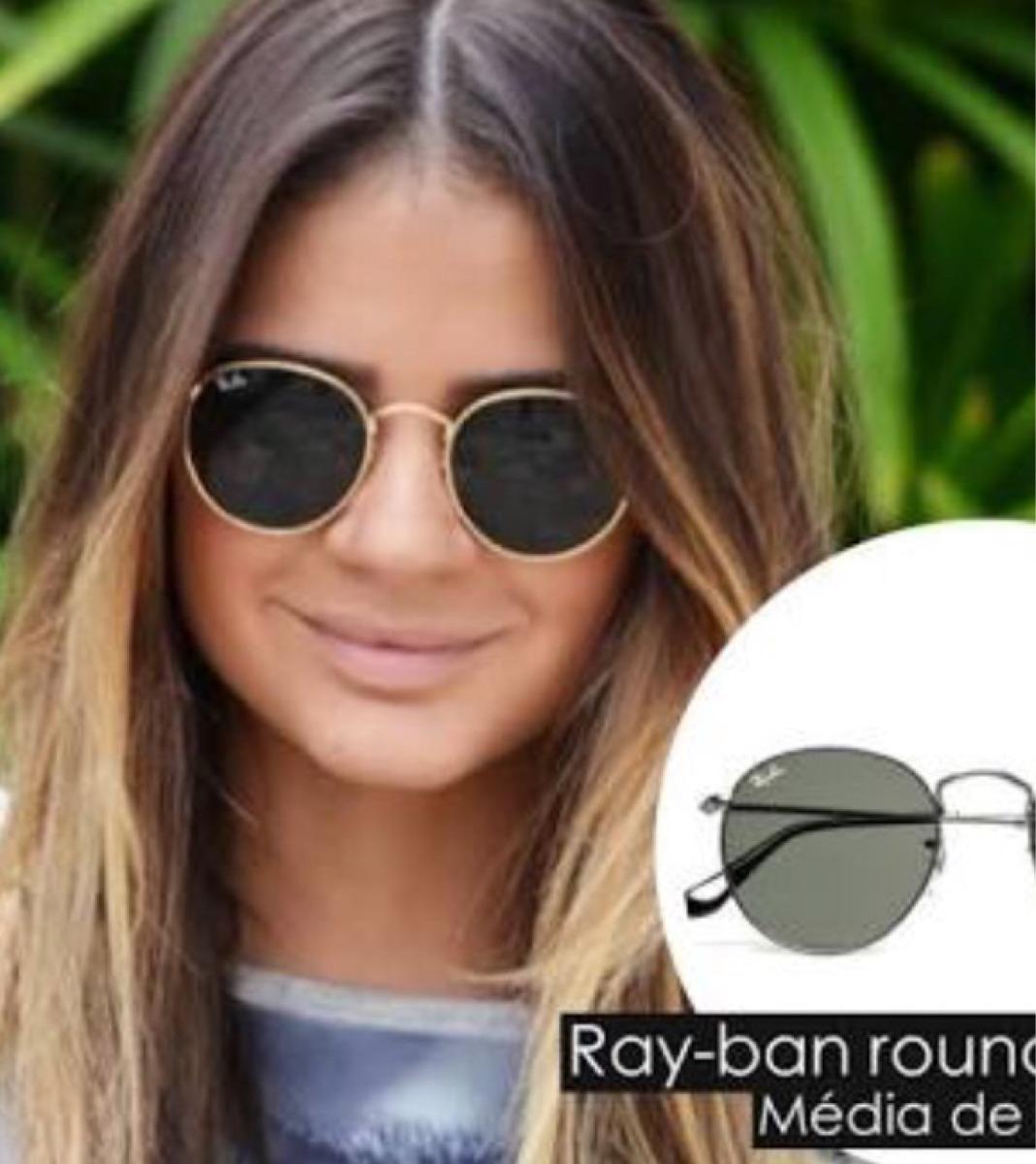 óculos redondo retrô lente preta armação dourada novo. Carregando zoom. 366ee2994ca1d