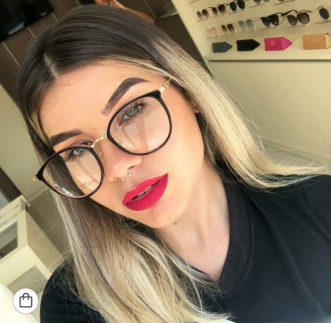 46c4ef9dd óculos redondo sem grau feminino tendencia lente clara nerd. Carregando  zoom.