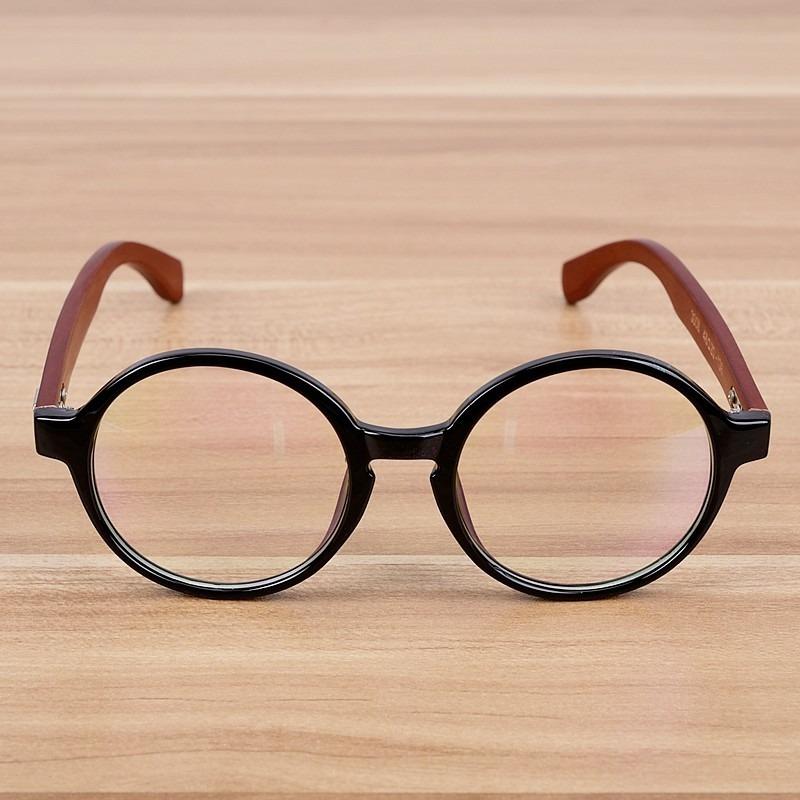 óculos redondo vintage masculino feminino armação madeira. Carregando zoom. 4ab1a44d01