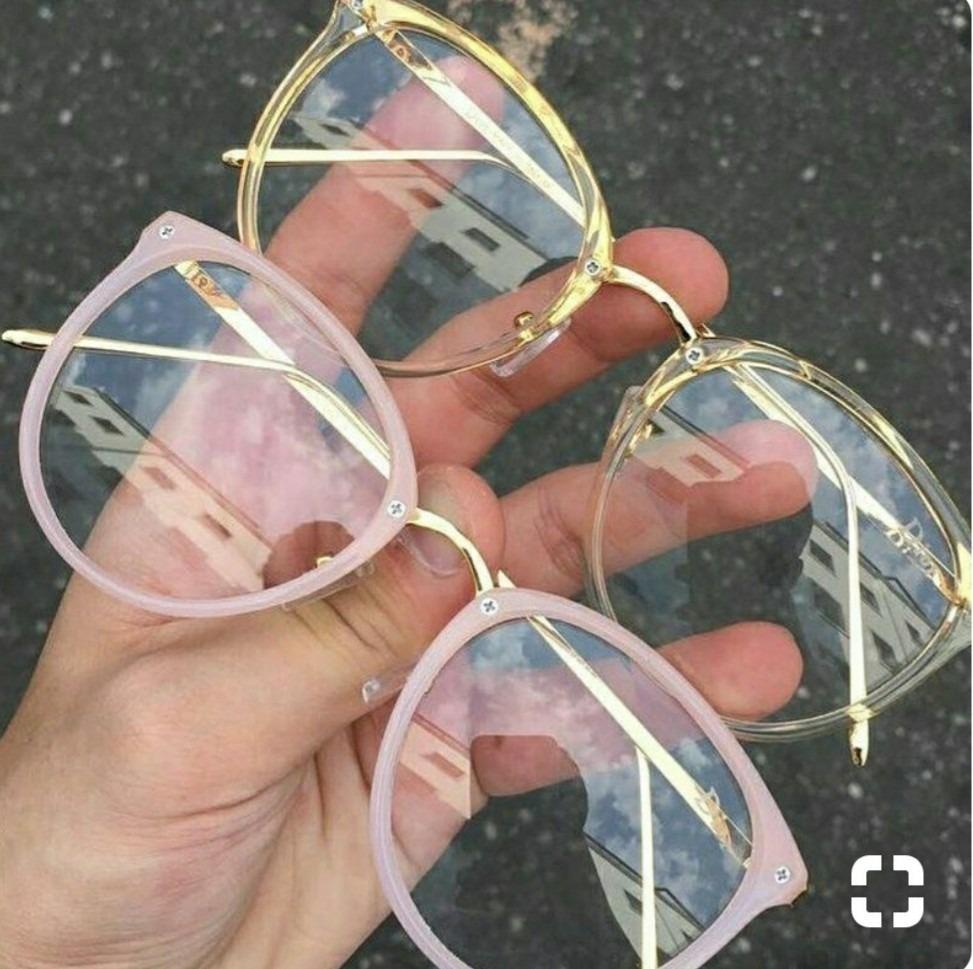 017d6f9a165f7 óculos retro armação redonda feminina estiloso sem grau moda. Carregando  zoom.