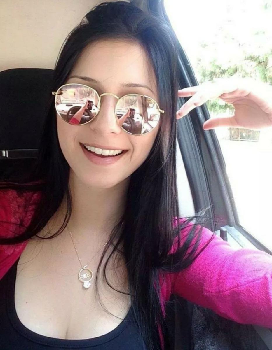 óculos retro lindo redondo para mulher espelhado grande moda. Carregando  zoom. 7b51b91149
