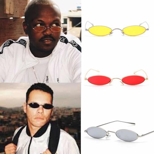 óculos retro oval vermelho rap trap hype óculos de rap