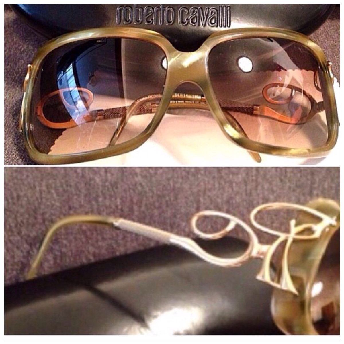 a72cd3bfe95f8 Óculos Roberto Cavalli - R  370,00 em Mercado Livre