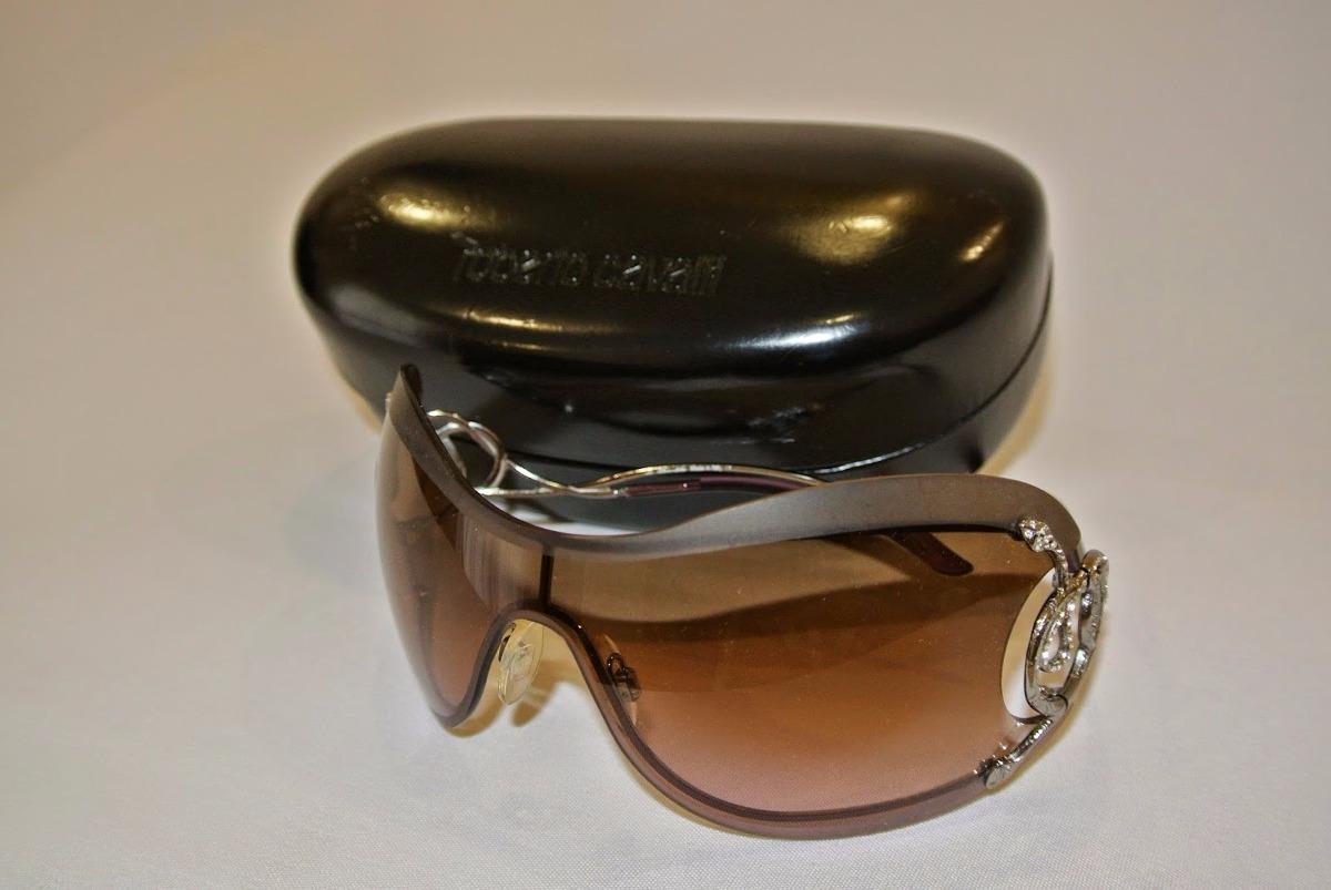 Óculos Roberto Cavalli - Modelo Máscara - Cor Prata E Lilás - R  399 ... 0216fc3477