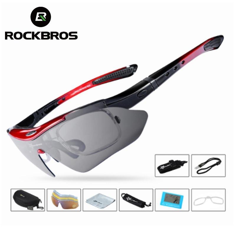 507d08a95aab7 Óculos Rockbros Polarizado 5 Lentes Bike Bicicleta Ciclismo - R  90 ...