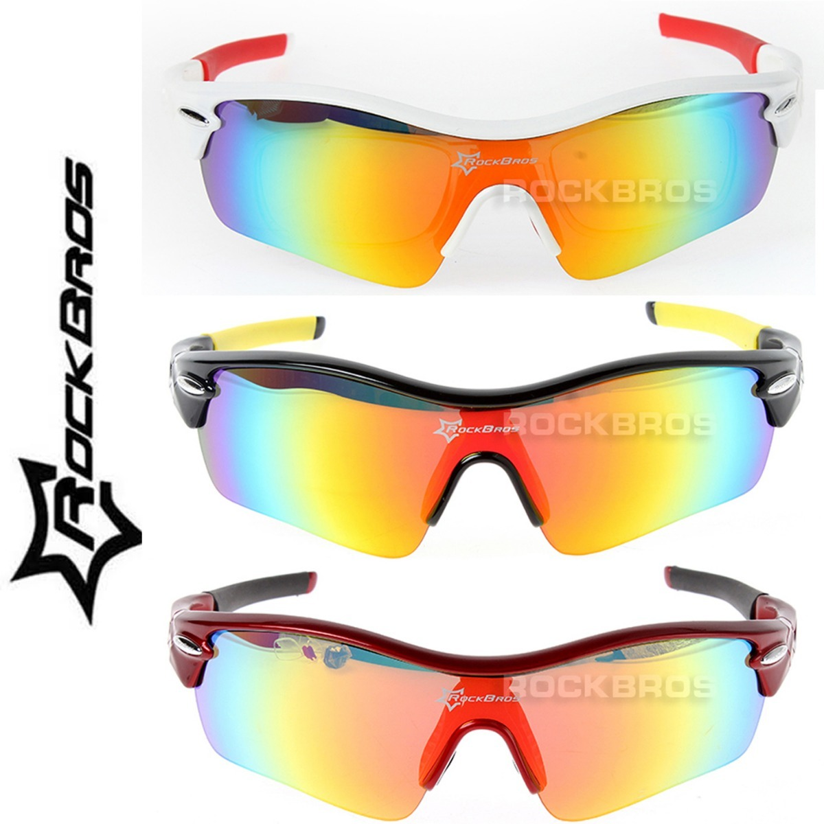 óculos rockbros original polarizado ciclismo 5 lentes uv400. Carregando  zoom. 9001ef2769