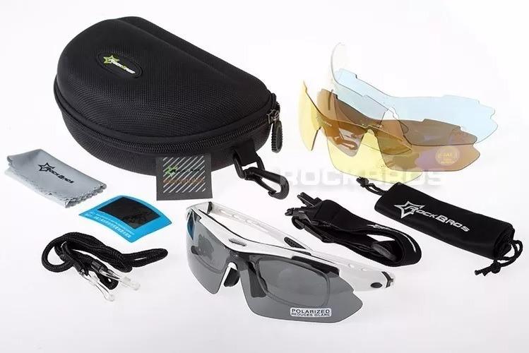 3b35f1d7faed9 Óculos Rockbros Polarizado 5 Lentes Bike Bicicleta Ciclismo - R  200 ...