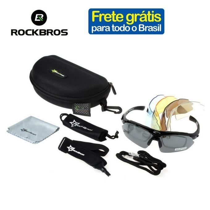 dbea3033f6216 Óculos Rockbros Polarizado 5 Lentes Bike Bicicleta Ciclismo - R  120,00 em  Mercado Livre