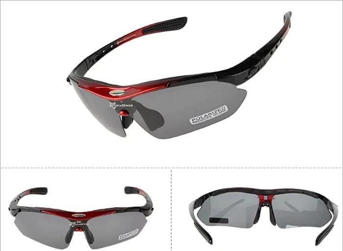 696953b9a897f Óculos Rockbros Polarizado 5 Lentes Bike Bicicleta Ciclismo - R  89 ...