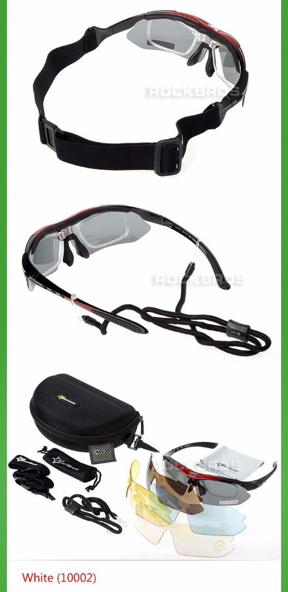 6a78adc9ba155 Óculos Rockbros Polarizado 5 Lentes Bike Bicicleta Ciclismo - R  98 ...