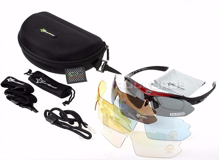 33165b7af19e1 Óculos Rockbros Polarizado 5 Lentes Uv 400 Ciclismo - R  89
