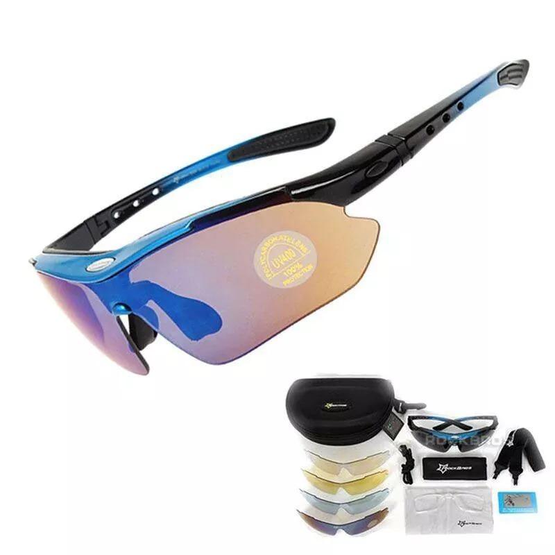 d7240e3107f34 óculos rockbross original kit ciclismo 5 lentes 1 polarizada. Carregando  zoom.