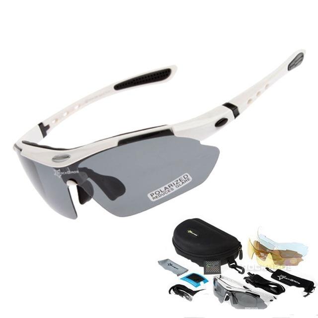 56132e305f04e Oculos Rockbross Polarizado Esportivo 5 Lentes Bike Ciclismo - R  120,00 em  Mercado Livre