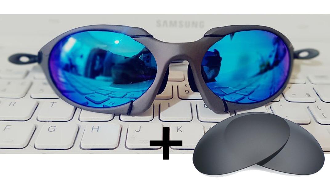 óculos romeo 1 oakley 100% fosco polarized + lente brinde. Carregando zoom. 4159e15f497