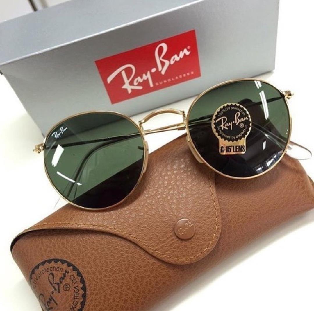 c425b3882b42d Óculos Round Rb3447 Verde Redondo Retro Masculino Cristal - R  300 ...