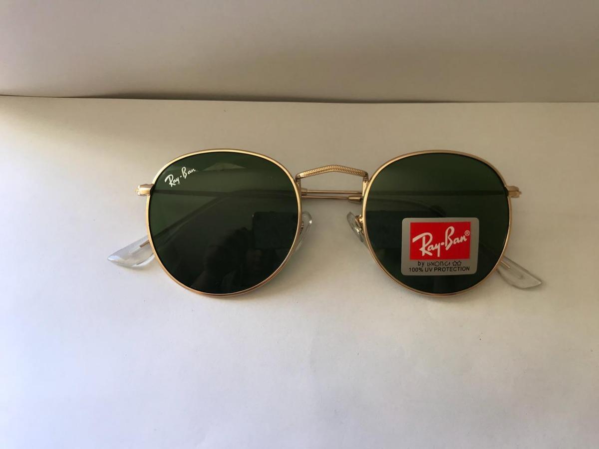 a9b5e4aa7a802 Óculos Round Rb3447 Verde Redondo Retro Masculino Cristal - R  289 ...