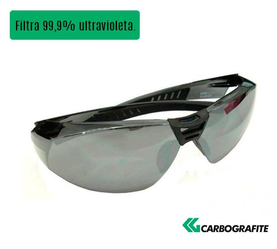 óculos segurança cayman sport cinza espelhado - carbografite. Carregando  zoom. c55a5717d4cf0