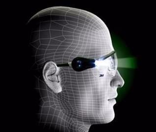 óculos de segurança com leds light vision 3m - ca20332 · óculos segurança  com ffa4a9957a