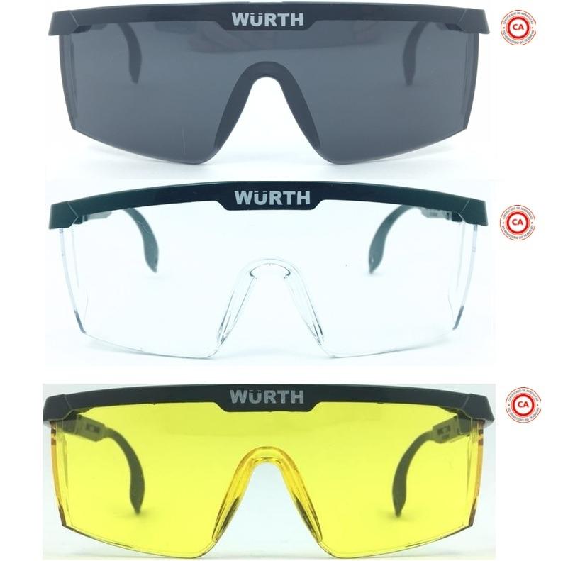 18b594144990a Óculos Segurança Proteção Epi Rj Ca34082 Wurth Fume Amarelo - R  18 ...